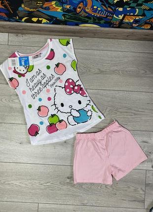 Набор летний для девочки /комплект футболка и шорты hello kitty