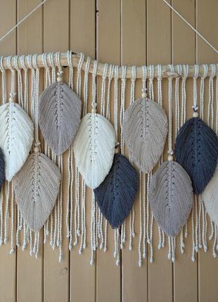 Листья перья макраме , декор для дома, детская фотозона