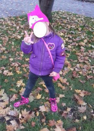 Яркая и красивая курточка на модницу 4-5 лет