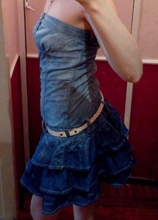 Джинсовое платье джинсовый сарафан