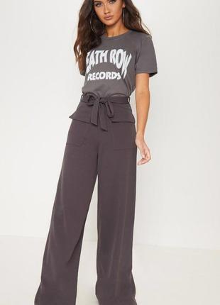 Стильные брюки палаццо с высокой посадкой prettylittlething на высокий рост