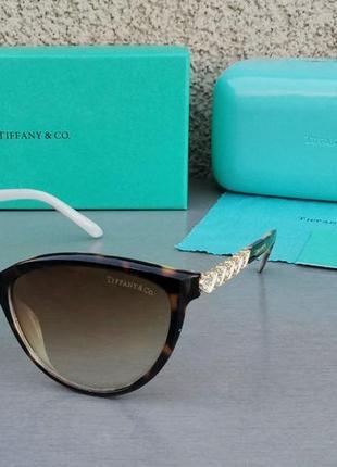 Tiffany and co очки женские солнцезащитные коричневые тигровые