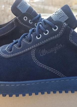 Летние туфли мужские натуральный нубук, прошитые