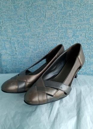Винтажные кожаные туфельки туфли k-shoes англия