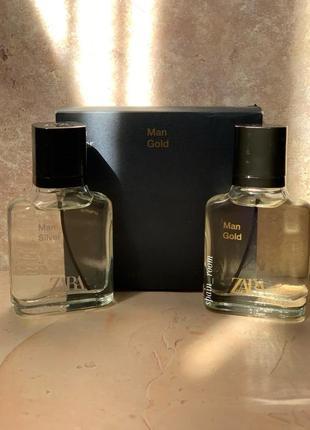 Духи zara silver/gold /чоловічі парфуми /туалетна вода /парфюм