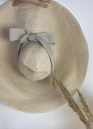 Брендовая шляпа lanvin/ широкополая