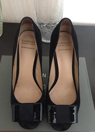 Туфли carnaby чёрные замш кожа 38 размер