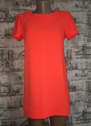 Ярко- оранжевое платье