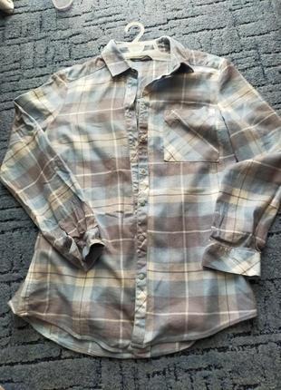 Рубашка в клетку m&s collection