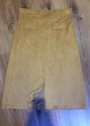 Шикарная стильная юбка миди ,трапеция!