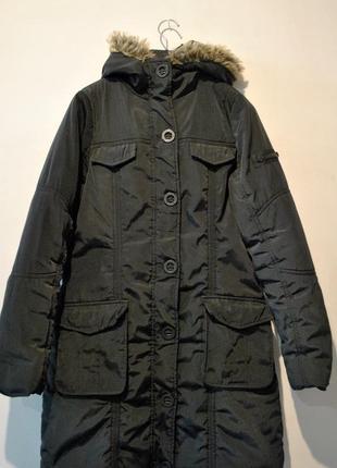 Демисезонная удлиненная куртка пальто broadway fashion nyc р. 38 м замеры