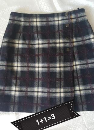 Короткая юбка в клетку акции распродажа
