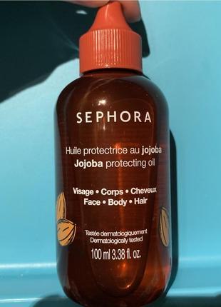 Sephora collection jojoba protecting oil масло жожоба 100 мл для волос и тела