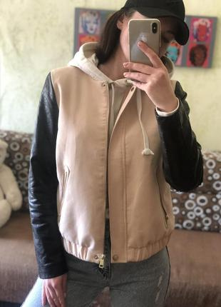 Куртка курточка кож зам пудра h&m