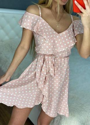 Женские платья сарафаны в горошек