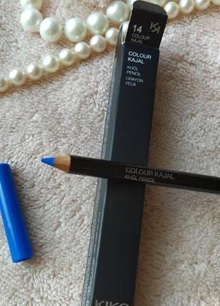 Карандаш для глаз kiko colour kajal knol pencil crayon yeux kiko milano