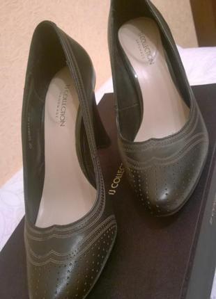 Туфли tj collection р.37 италия, натуральная кожа