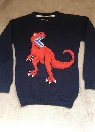 Свитер с динозавром 8-11 лет