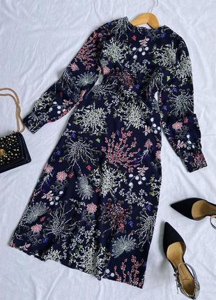 Весняна сукня міді в красивий принт