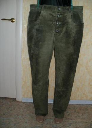 Отличные фирменные брюки из натуральной замши кожаные брюки брюки