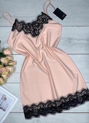 Красивое платье - пеньюар с кружевом