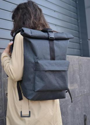 Вместительный рюкзак роллтоп ролтоп rolltop женский мужской (с карманом для ноутбука)