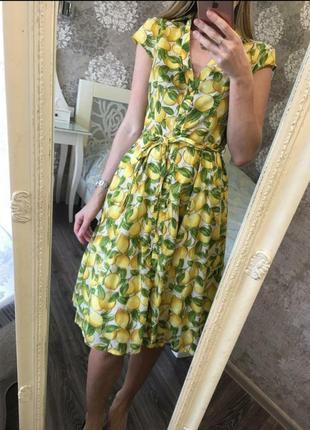 Сукня, платьє в лимонах