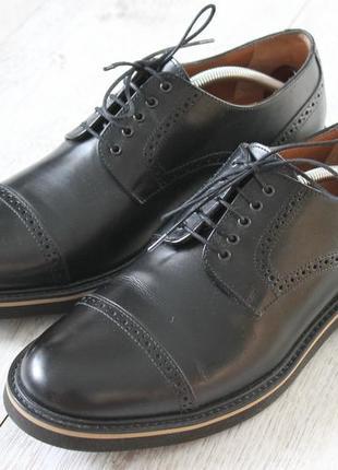 Мужские кожаные туфли броги navyboot original оригинал