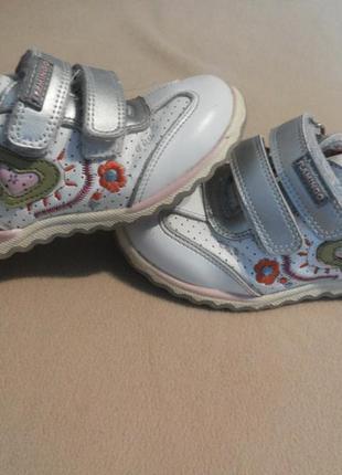 Детские кожанные кроссовки 25 размер, 15,5 см стелька