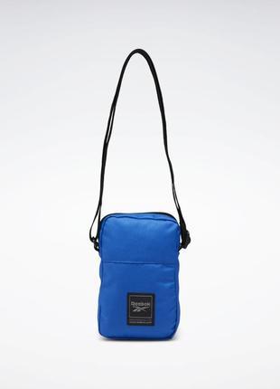 Сумка-мессенджер workout ready city bag reebok синяя