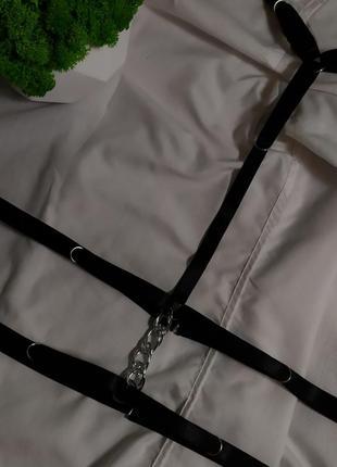 Портупея на шею и талию 🖤 портупея с цепью. украшение на грудь.3 фото
