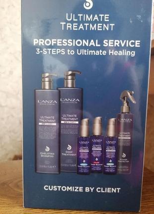 Кератиновое протезирование для волос l'anza ultimate treatment