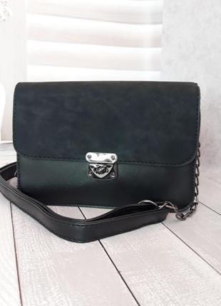 Чёрный клатч сумочка