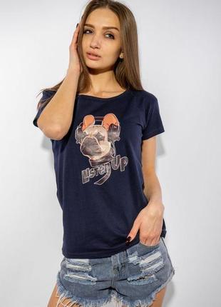 Женская  футболка  футболка женская listen up-  разные цвета и размеры