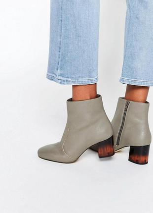 Кожаные ботинки asos,р-р 38