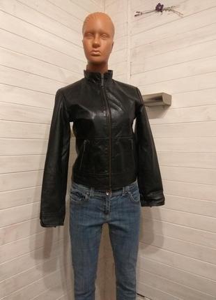Кожаная курточка h&m