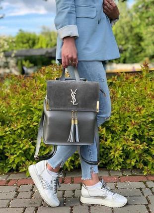 Новый рюкзак/сумка 2в1 с натуральной замшей