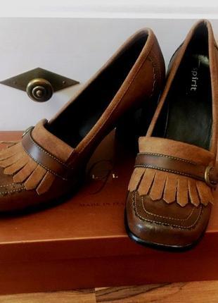 """Квадратный носок-стильные и комфортные туфли """"easy spirit"""" кофейного цвета"""
