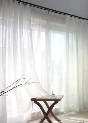 Тюль в турецька із шифону 400x270 cm біла