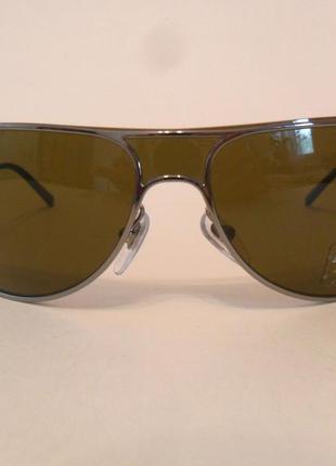 Очки авиаторы - унисекс в металлической оправе salvatore ferragamo