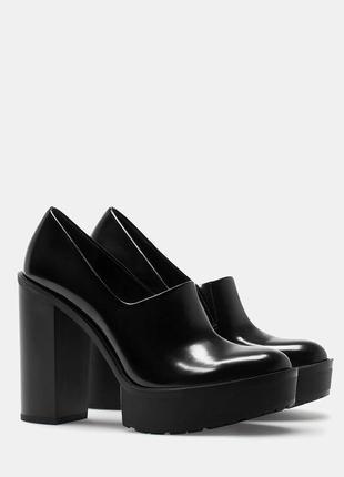 Супер цена!!! стильные туфли на толстом каблуке 37, 38