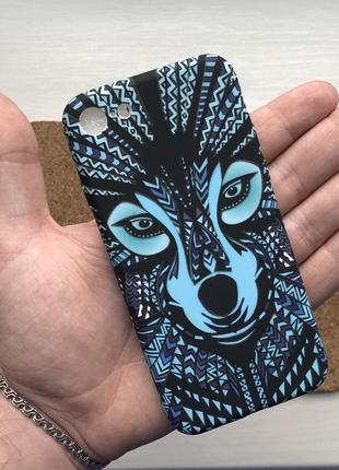 Чехол черный чохол на для айфон iphone 7 / 8 силиконовый с принтом