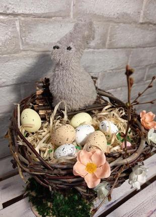 Пасхальное гнездо декор