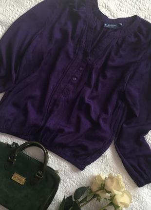 Яркая блуза по низу на резинки c-m