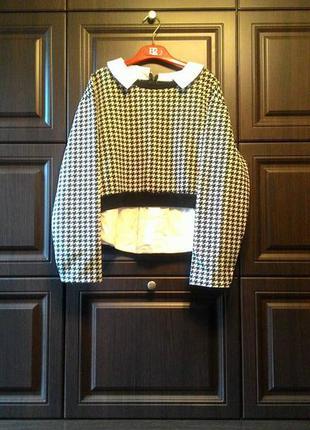 Крутая итальянская неопреновая кофта с имитацией джемпера и рубашки imperial.