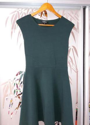 Зелёное платье солнце клеш topshop
