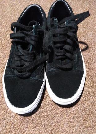 Кеды vans, оригинал, замшевые, чёрного цвета