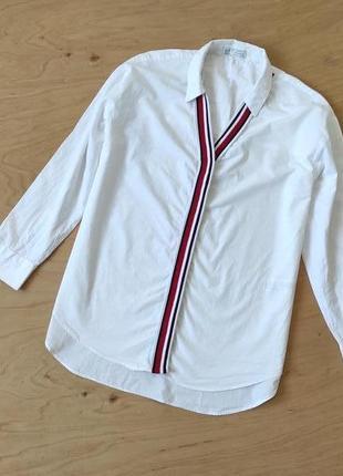 Рубашка блузка белая  zara
