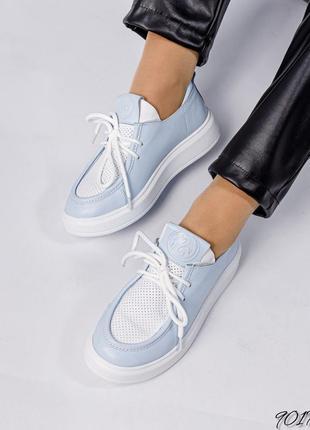 Легкие мокасины на шнуровке