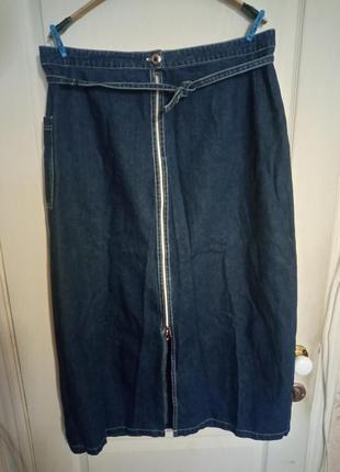 Юбка джинсовая индиго